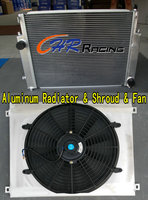 Radiador central de aluminio para coche, cubierta y ventilador DUAL para BMW E36 M3/Z3/325TD/328i/323i/320i/s/c/is 1992-2000