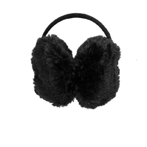 Hot Lady Pure Plush Comfy Warmer Headband Back Ear Muffs Earmuffs Black