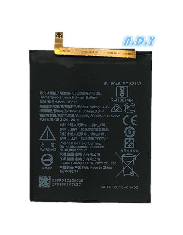 Bateria original he317 3000 mah para nokia 6 nokia 6 n6 ta-1000 ta-1003 ta-1021 ta-1025 ta-1033 ta-1039 he 317 baterias bateria