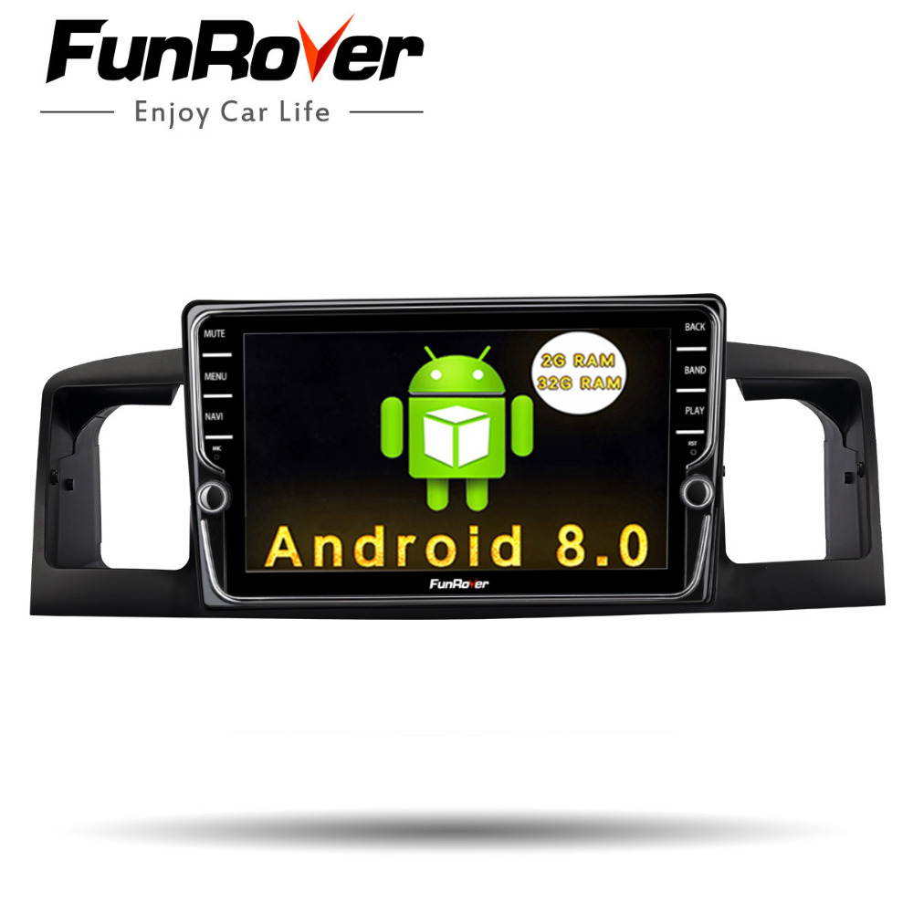 Funrover Voiture Radio Multimédia lecteur IPS 2 din audio radio Navigation Pour TOYOTA Corolla E120 BYD F3 DVD stéréo vidéo WIFI GPS