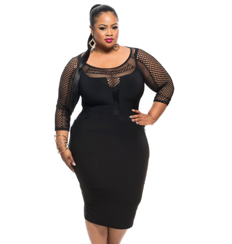 Aliexpress.com : Buy Plus Size 2016 Black Women Summer Dress Large ...