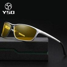 YSO очки ночного видения для мужчин алюминия и магния рамки поляризационные ночное видение очки для вождения автомобиля с антибликовым покрытием очки 2179