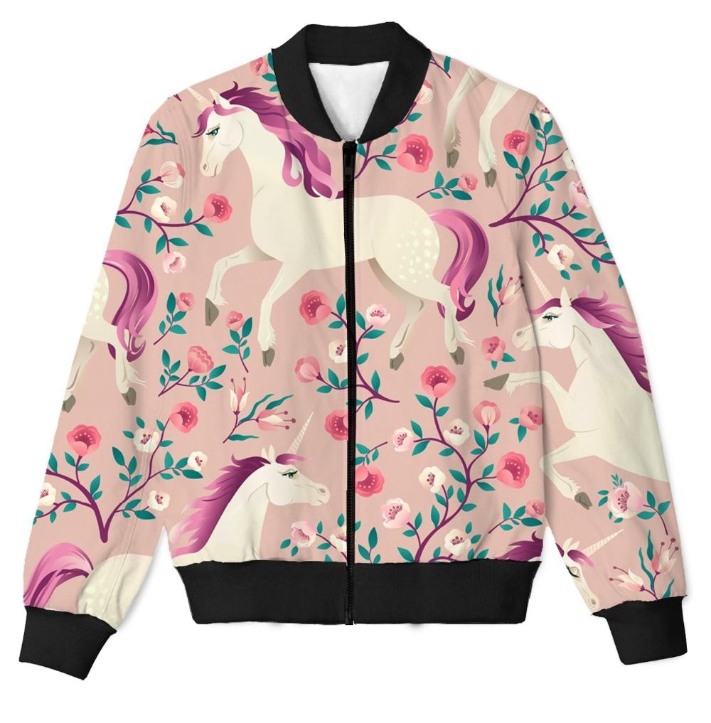 Vraie taille américaine personnalisée Floral licorne 3D Sublimation impression Zipper Up veste grande taille 4XL 5XL 6XL
