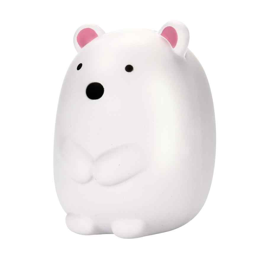 10,5 см высококлассные Джамбо мягкие каваи милые очаровательные белый Медведь Мягкий медленно поднимающийся Джамбо сжимающий мобильный телефон ремень Подвеска Игрушка t313
