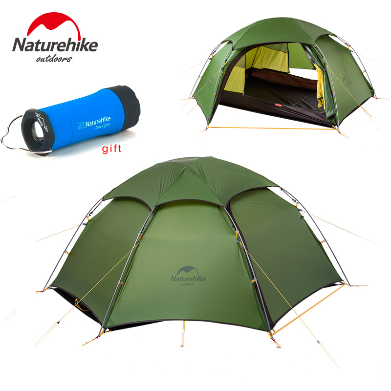 NEW ! NatureHike cloud peak tent ultralight two man camping hiking outdoor tent NH17K240-Y naturehike cloud peak tent ultralight two man camping hiking outdoor outdoor camping tents 2 5kg tents for winter fishing