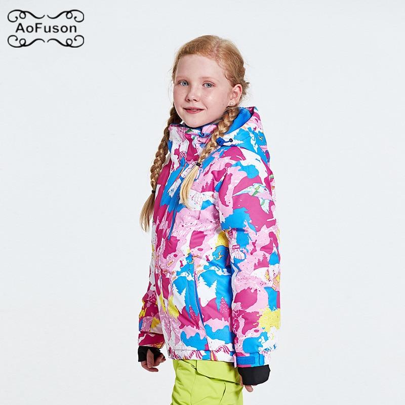 Veste de Ski pour enfants coupe-vent chaude imperméable respirant Snowboard chaud enfants manteau enfant garçon fille Graffiti veste de Snowboard