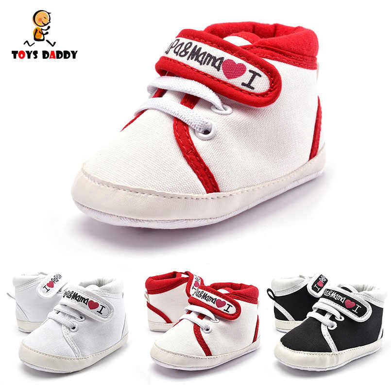 12fd782fe03e5 1 Pair New Baby Shoes Fashion Embroidery Love Mom Casual Shoes Infant Boys  Girls Soft Sole
