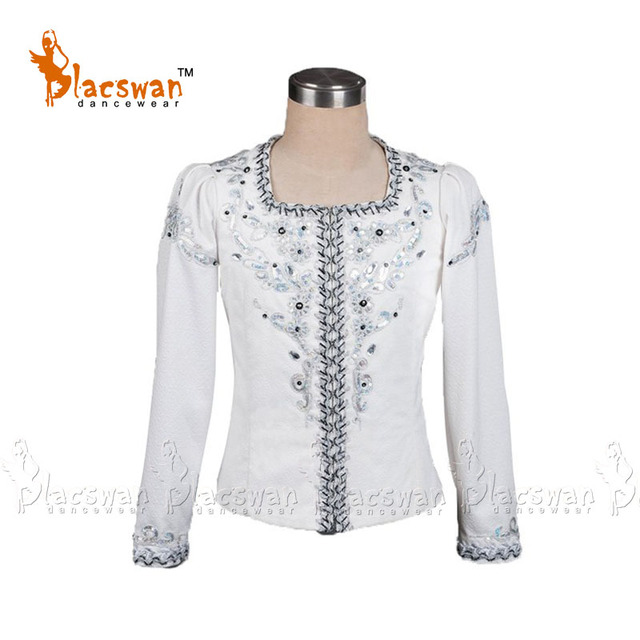 Professional Male Ballet Costume BT792 white ballet coat top classical ballet jacket outfit for boys Ballet Tunic Prince Coat