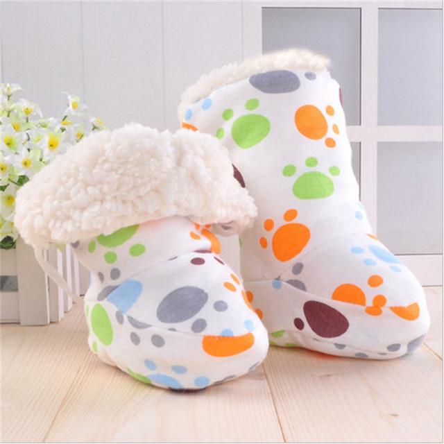 Nuevo Invierno de la Felpa botas de Bebé Recién Nacido Caliente niños botas de Algodón de Dibujos Animados Infantil Niño Niña Niño botas de Suela Blanda