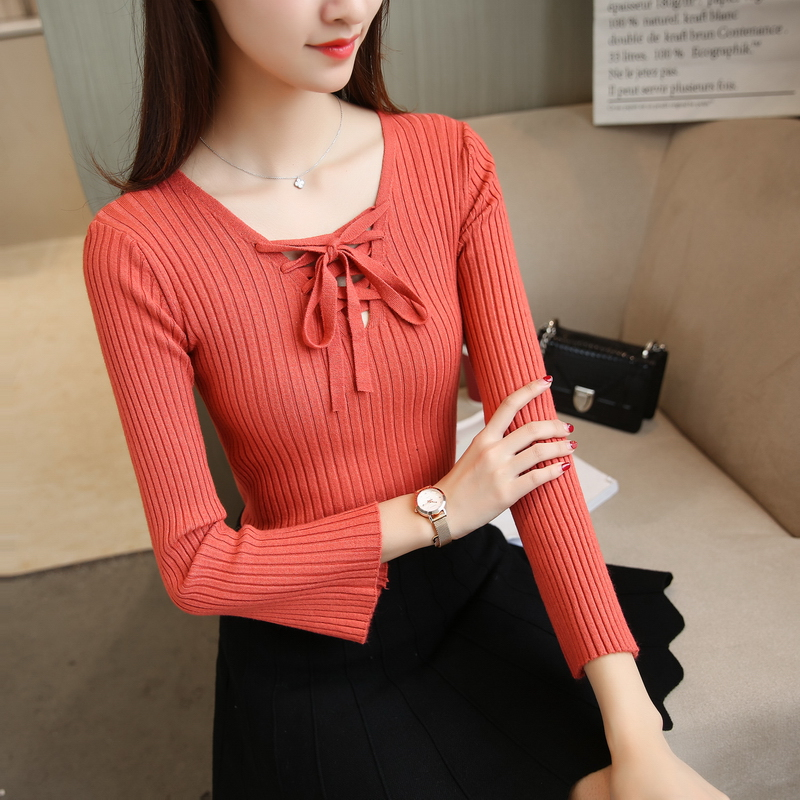 5471 new collar lace sweater 27 shot