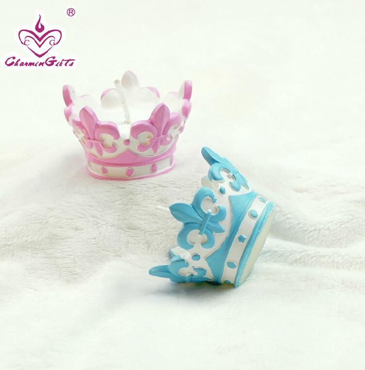 baby crown smookless candle baby shower baptism party favor children gift  present baby boy girl birthday 3a5affbf145