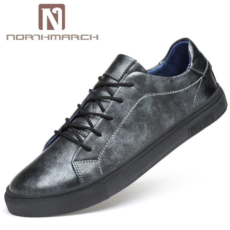 NORTHMARCH Summer Men Shoes Genuine Leather Breathable Men Shoes Fashion Lace-Up Mens Shoes Casual Mens Trainers Zapatos Hombre цена