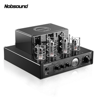 Nobsound MS 10DMKII MP3 HiFi 2.0 Home Audio Bluetooth Vacuum Tube Integrated Amplifier Input USB/AUX Power Amplifier 6P1*2+6N1*2