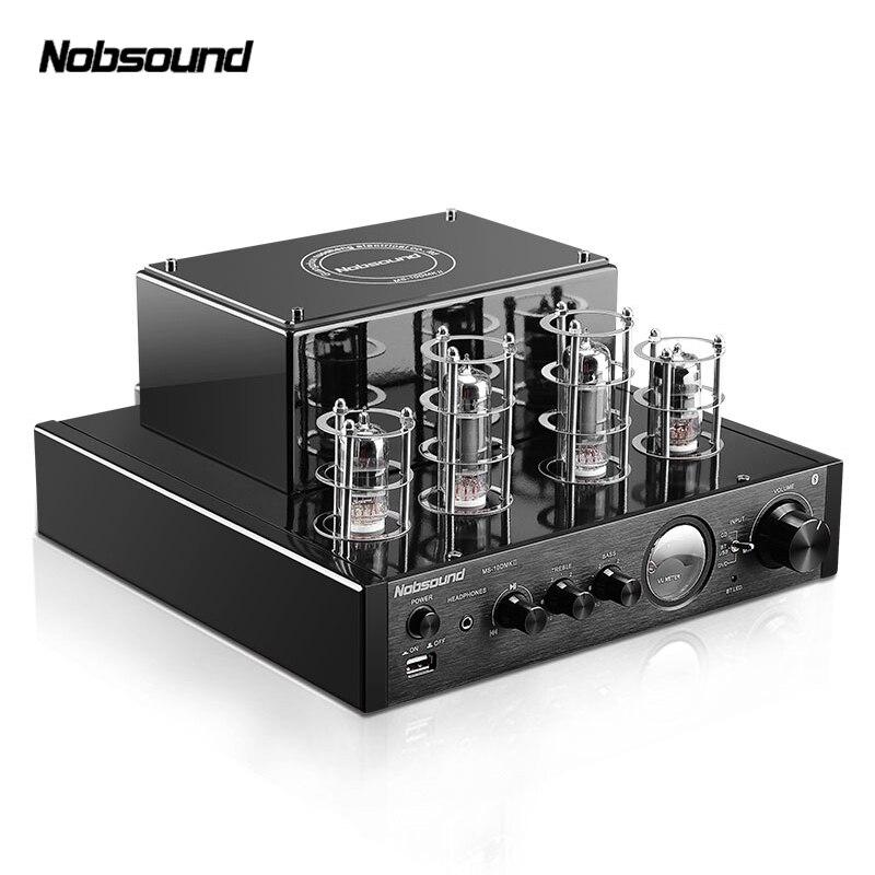 Nobsound MS-10D MP3 HiFi 2.0 Домашнее аудио Bluetooth трубки Усилители домашние Вход USB/BT/AUX Усилители для наушников 25 Вт + 25 Вт 6P1*2 + 6N1*2 AC220V