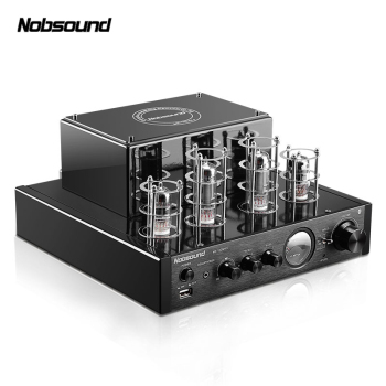 Nobsound MS-10DMKII MP3 HiFi 2.0 Home Audio Bluetooth Vacuum Tube Integrated Amplifier Input USB/AUX Power Amplifier 6P1*2+6N1*2 2017 new nobsound hifi 2 channel microphone preamplifier dual mic preamp audio recorder electric guitar amplifier