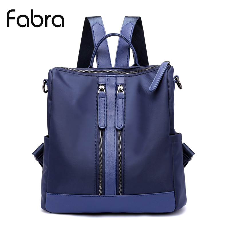 Fabra Women Backpack Waterproof Nylon Backpack Women Daily Packs Female Casual Daypacks Travel Small Shoulder Bag Blue Mochila learning english language via snss and students academic self efficacy