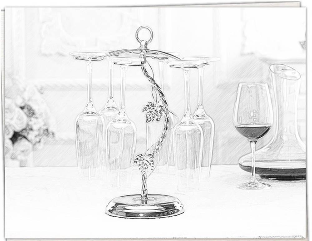 Fashion Decorative Metal Modern Hanging Wine Glass Racks Wine Cabinet Wedding Decor Gift Wine Glass Holder Wine Accessories KC1284 (7)