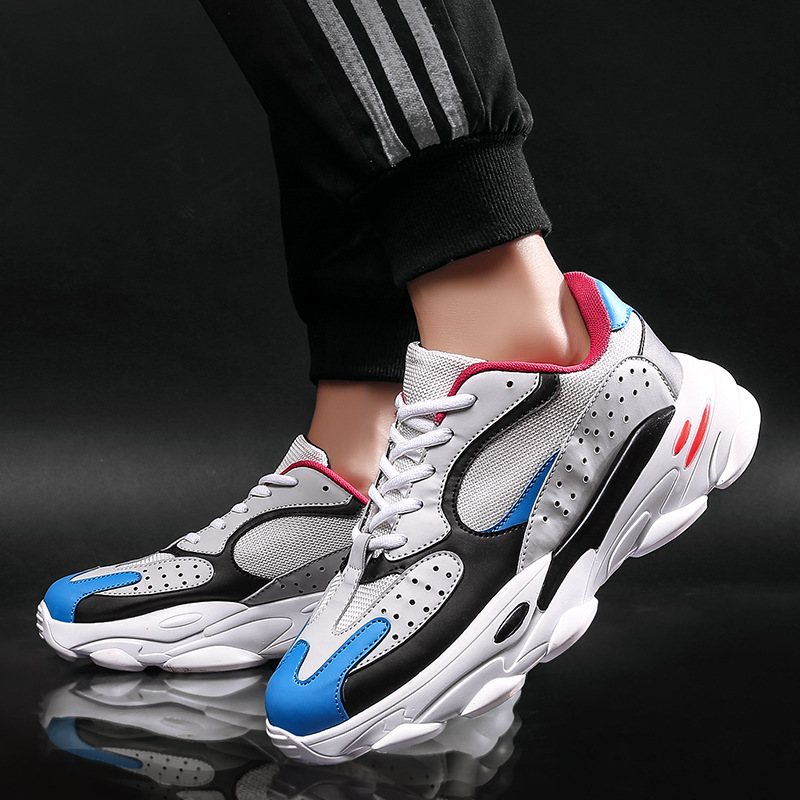 New Casual Shoes Men Breathable Autumn Summer Mesh Joker Shoes Dad Sneakers Fashion Breathable Lightweight Trainers Tenis Shoes