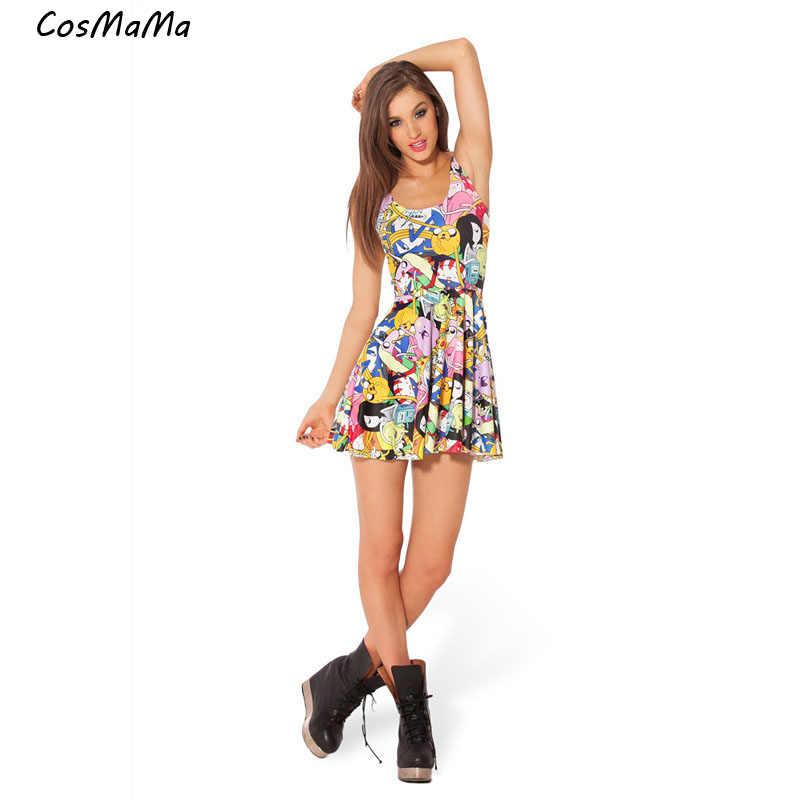 d924a2240644 2017 de alta calidad cosmáma marca ropa mujer encaje moda desigual verano  sin mangas diva largo