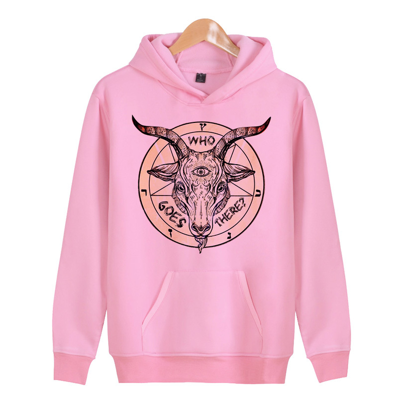Baphomet Fashion Men  Hoodie Hooded Sweatshirt Coat Jacket Winter Warm Outwear  X4037