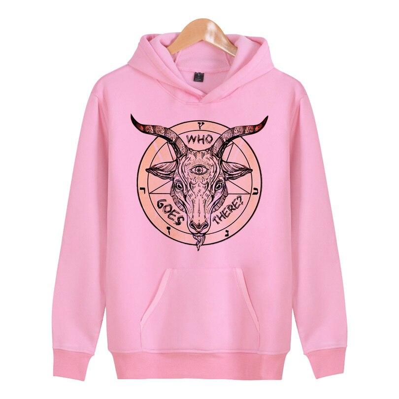 Baphomet Fashion Men  Hoodie Hooded Sweatshirt Coat Jacket Winter Warm Outwear  X4037