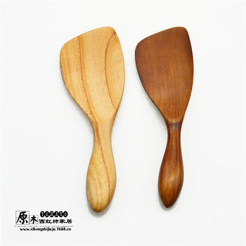 Wysokiej jakości łopatka z drewna z ukośny uchwyt lekkie i ciemne brązowe krótkie Pan Turner narzędzia kuchenne darmowa wysyłka tanie i dobre opinie Zestawy bakeware Ekologiczne 1023 wood