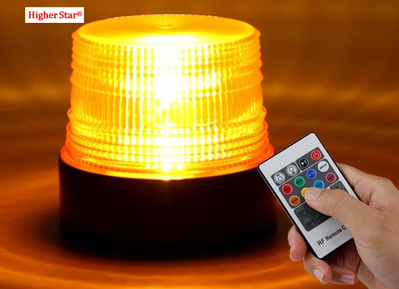 Rechargeable remote control multifunction 8 color Led strobe lights,car emergency light,warning lights,waterproof