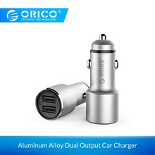 ORICO Portable Car Charger Aluminum Alloy Dual Output Adapter for Samsung Xiaomi Huawei