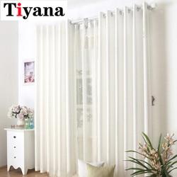 Woal zasłony biały zasłony niebieski/biały kolor pół-tkanina chroniąca przed słońcem proste okno zasłony do biały zasłona do sypialni JK002-15