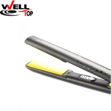 2017 Gold Styler Hair Straightening Nano Titanium Straightener V Styler Gold Black Hair Straightener La plancha de pelo Ceramic