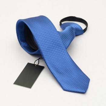 2019 New 6cm Zipper Ties for Men Fashion Blue Plaid Slim Zipper Neck Ties Classic Business Wedding Ceremony Appointment Neckties