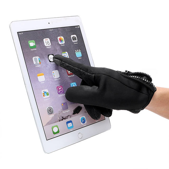 1 Pair Top Selling Motorcycle Gloves Riding Glove Ski Gloves Touch Screen Windstopper Warm Full Finger For Winter Sport 1