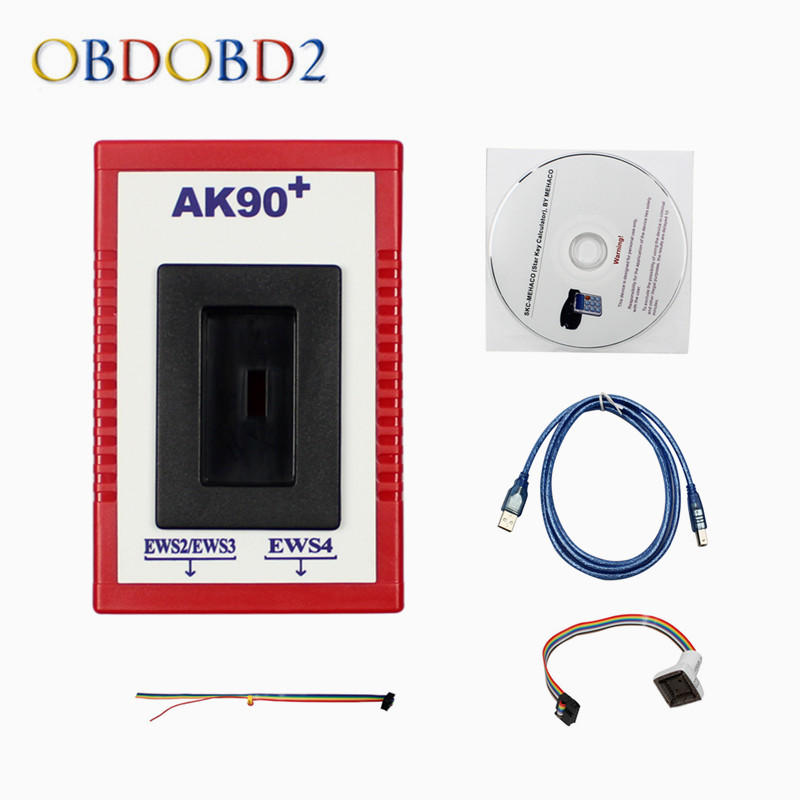 Newest AK90 For BMW AK90+ Auto Key Programmer For BMW EWS From 1995-2009 V3.19 AK90 Key Programmer Free Shipping недорго, оригинальная цена