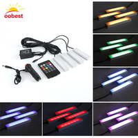 Car RGB LED Strip Light LED Strip Lights 9 LED Car Styling Decorative Atmosphere Lamps Car