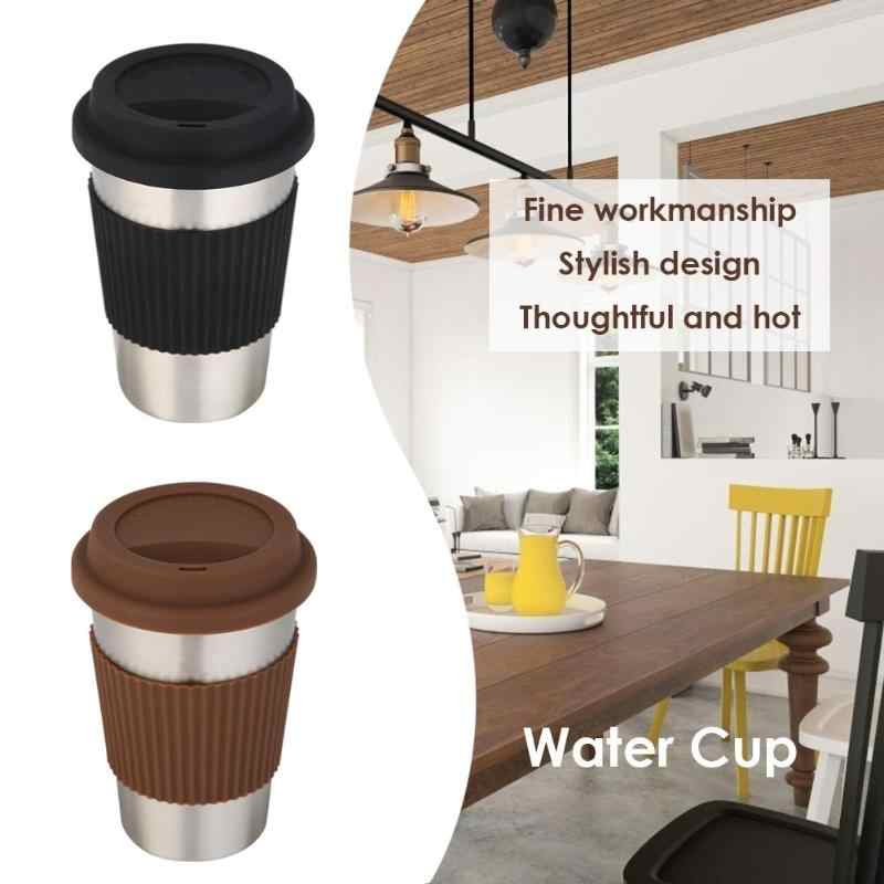 500mL Stainless Steel Water Cup Non-Slip Coffee Mug Insulated Travel Mug Double Wall Vacuum Insulated Tumbler Wide Mouth Tea Cup