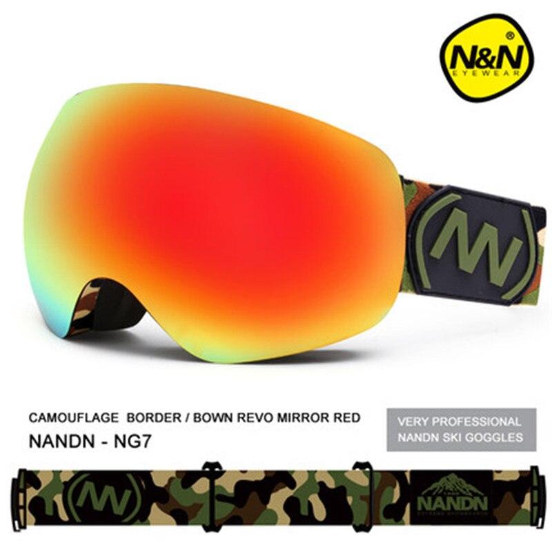 A Estrenar entrega rápida NANDN Nieve Gafas de Esquí Anti-Vaho gafas de Lente Do