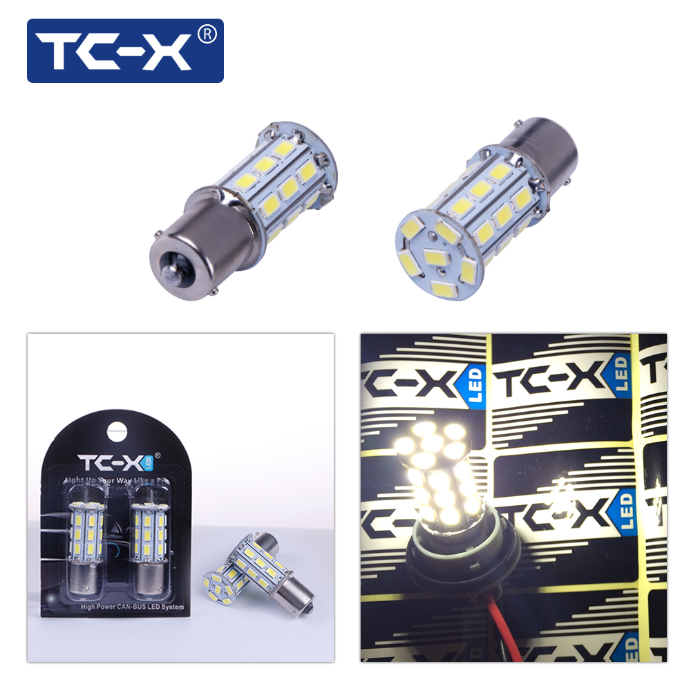 TC-X 2 STK Car Led Light Signal Lamp 1156 BA15s P21W Led Turn Brake - Billykter
