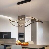 Modern Led Pendant Lights For Dining Room Kitchen Room Bar Living Room Hanging Pendant Lamp Matte Black/White 90 260V Żyrandol