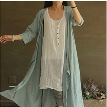 In the summer of 2015 new products listed, original design loose big yards 100% cotton linen leisure women long shirts