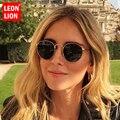 LeonLion, круглые женские солнцезащитные очки, 2019, высокое качество, зеркальные Винтажные Солнцезащитные очки, женские очки, фирменный дизайн, Oculos De Sol Feminino - фото