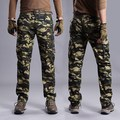 Fashion Overalls Men Military Camo Cargo Pants With Side Pockets Camouflage Weatpants For Men Army Green Cargo Pants Long
