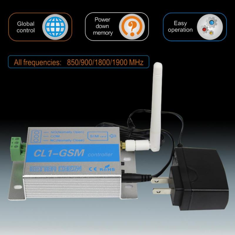 CL1-GSM GSM SMS Wireless Remote Control Relay Smart Switch Remote Relay Control Home Security EU Standard