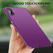 Diamond Case for iphone X 6 6s 7 Plus XR XS MAX Glitter Bumper XiaoMi 8 Lite A2 RedMi 5A 4A 5 Note 4 4X Meizu M6 M5S M5 M3 Cover(China)