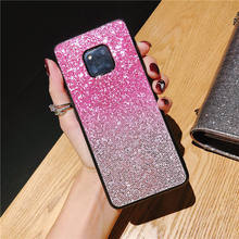 For Huawei P10 Plus P20 Mate 20 10 Lite Pro Nova 2i 2s 3 3e Honor 10 8 9 Lite v9 v10 7x 8x Y9 2019 Y6 2018 Gradient Glitter Case(China)