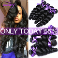 Indian Virgin Hair Loose Wave Indian Curly Weave Human Hair Bundles Indian Loose Wave Virgin Hair Raw Indian Curly Virgin Hair