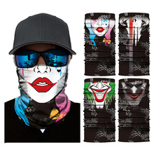 Multifunction Magic Motorcycle scary mask Outdoor Sport Seamless Colorful Tube Half Face Mask Wrap Headband Scarf ghost