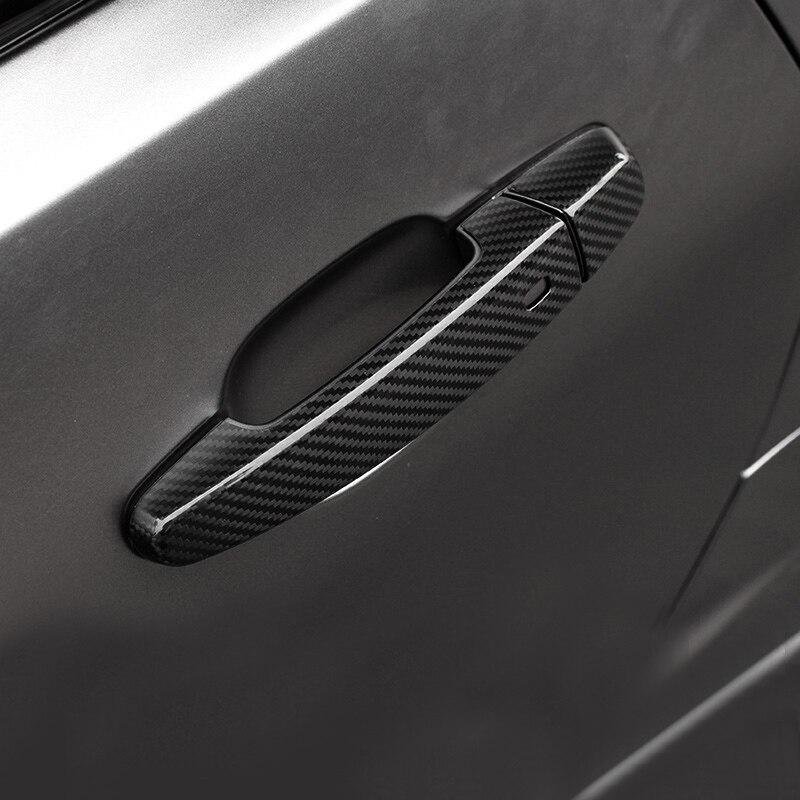 を QHCP 炭素繊維カースタイリングドアハンドルトリムフレームためシボレーカマロ 2016 + エクステリアアクセサリー送料無料  グループ上の 自動車 &バイク からの 車のステッカー の中 1