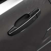 QHCP Carbon Fiber Car Styling Door Handle Cover Sticker Trim Frame For Chevrolet Camaro 2016+ Exterior Accessories Free Shipping
