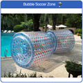 Livraison gratuite 2.4*2.2 m Zorb Roller Ball gonflable marcheur d'eau gonflable roulement baril Zorbing Runner viennent avec une pompe