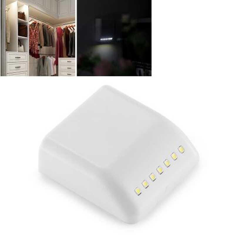 Светодиодный ночник энергосберегающий сенсорный датчик беспроводной настенный светильник PIR шкаф кухня спальня шкаф для домашних лестниц настенные светильники